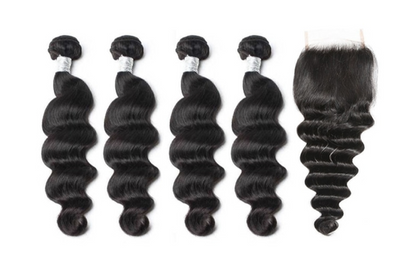 4 Loose Deepwave Bundles & Closure ( Goddess Collection)