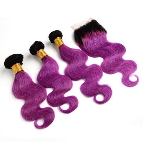 3 Bundles Any Ombre/Color with Closure For $300