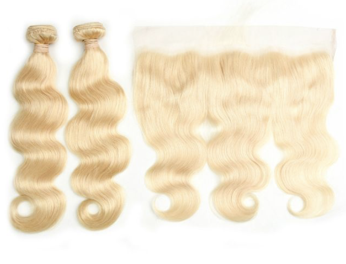 Bodywave Hair 2 Blondes Bundles &  Frontal