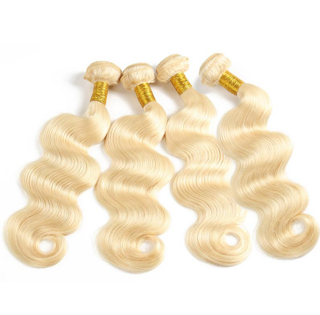Bodywave Hair 4 Blonde Bundles