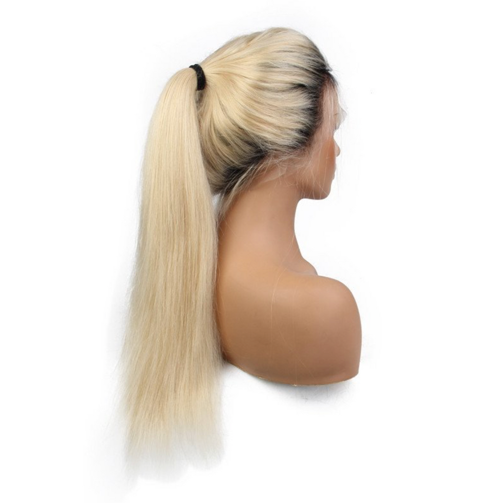 1B at Roots 613 Blonde Full Lace Wigs