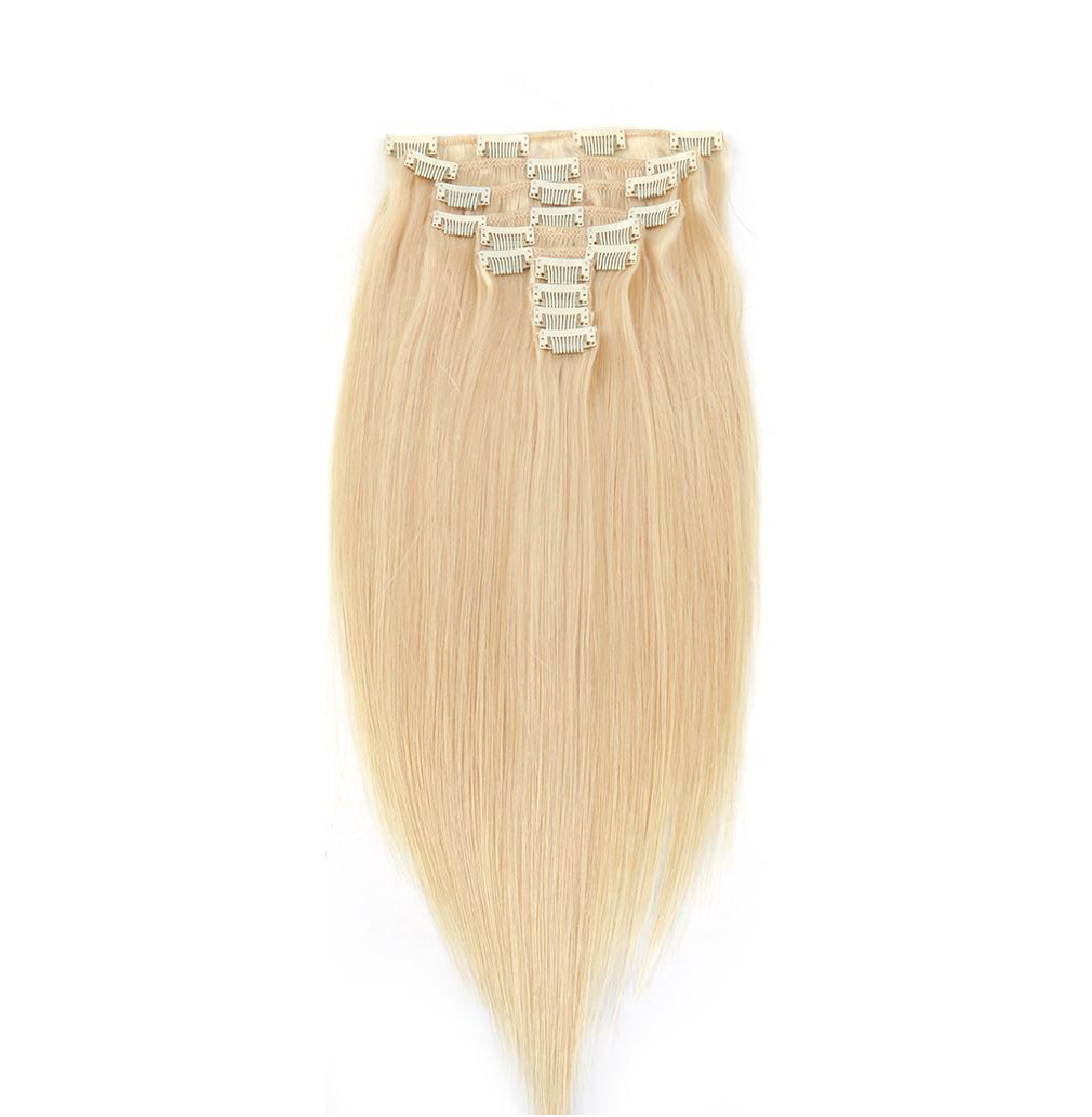Blonde Straight Hair Clip-In
