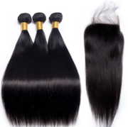 Straight Hair 3 Bundles & Closure ( I Am A Queen Collection )