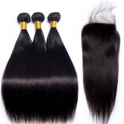 3 Bundles +Closure  (Any Texture)