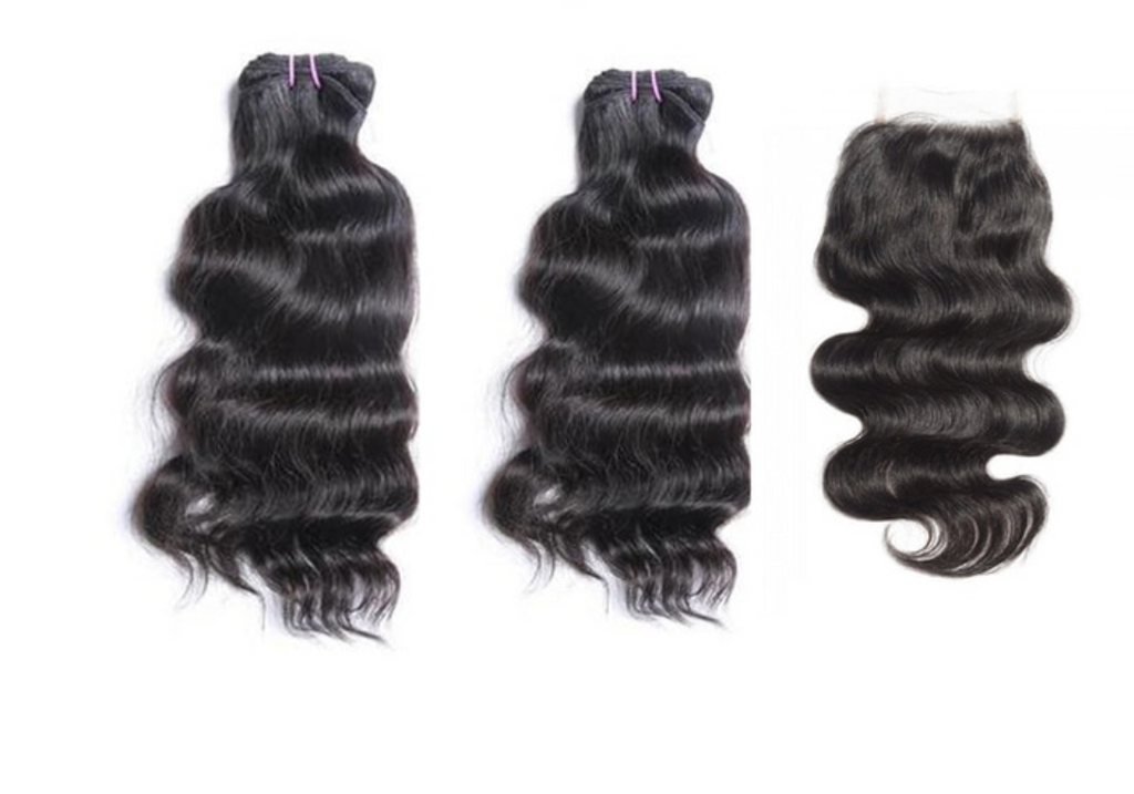 Bodywave Hair 2 Bundles & Closure ( R.A.W. Collection )