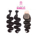 Bodywave Hair 2 Bundles & Swiss Lace Closure ( Industry Standard Collection )