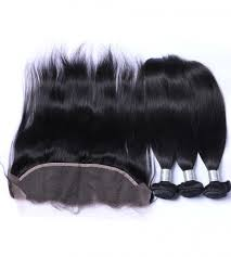 Straight Hair 3 Bundles & Frontal ( Goddess Collection )