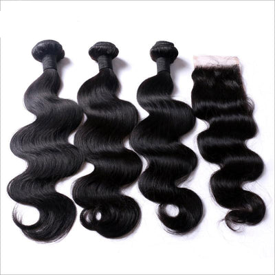 Bodywave Hair 3 Bundles & Closure ( Industry Standard Collection )