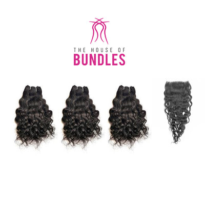 3 Raw Curly Bundles & Closure