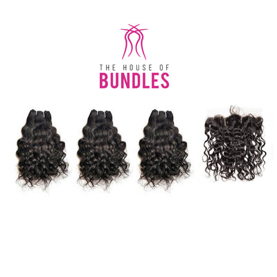 3 Raw Curly Bundles & Frontal