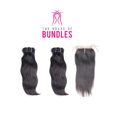 2 Raw Straight Bundles & Closure