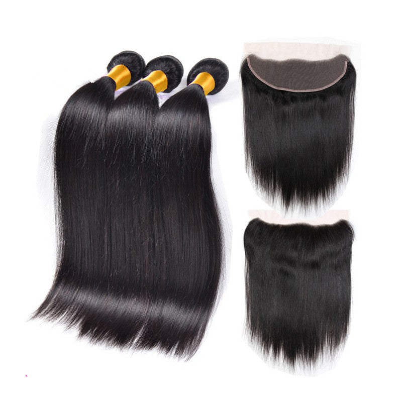Straight Hair 3 Bundles & Frontal ( I Am A Queen Collection )