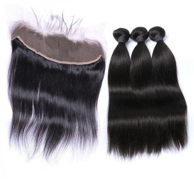 Straight Hair 3 Bundles & Frontal ( Supreme Goddess Collection )