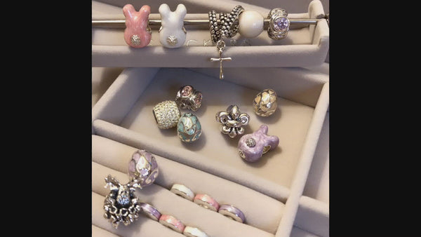 Bunny Butt Charm - Luxe Color™ Enamel Bead Charm - Green