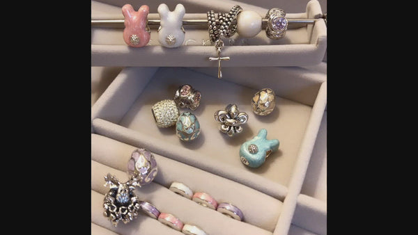 Bunny Butt Charm - Luxe Color™ Enamel Bead Charm - Purple