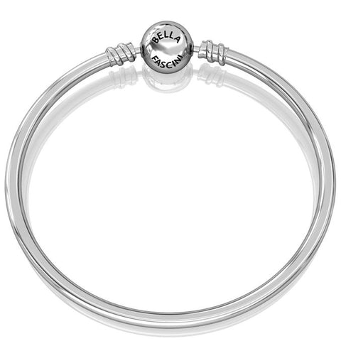 Round Bangle Bead Charm Bracelet - Bella Fascini fits Pandora