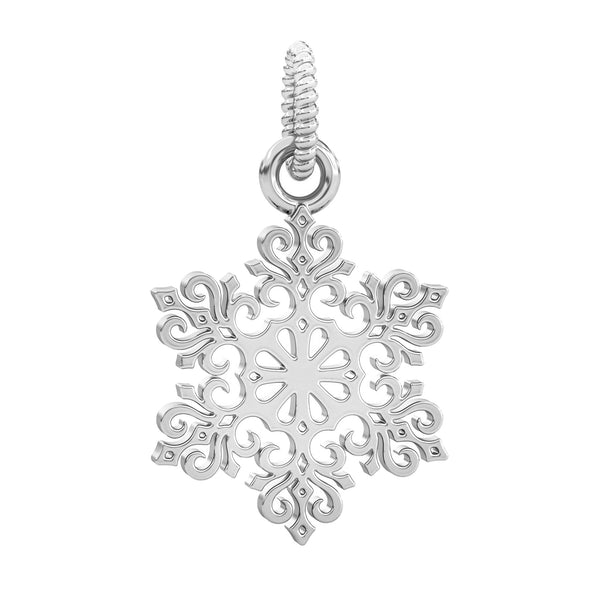 Winter Snowflake Dangle Bead Charm - Snow Kiss - Bella Fascini fits Pandora