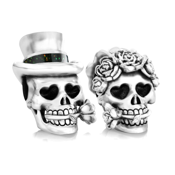 Groom - 'Till Death Do Us Part - Muertos Wedding Skull - Bella Fascini fits Pandora