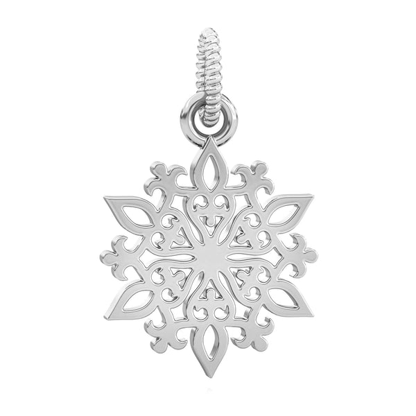 Winter Snowflake Dangle Bead Charm - Snow Day - Bella Fascini fits Pandora