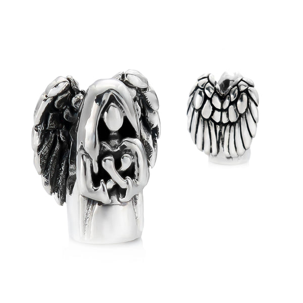 Guardian Angel with Wings RETIRED Bead Charm - Bella Fascini fits Pandora
