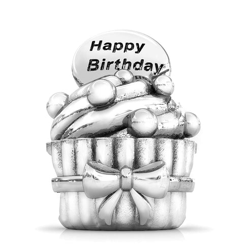 Happy Birthday Cupcake Bead Charm - Bella Fascini fits Pandora