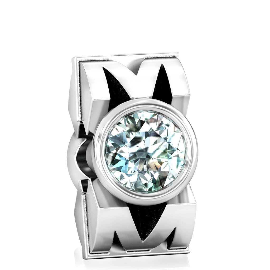 MOM CZ Charm Bead - Clear - Bella Fascini fits Pandora