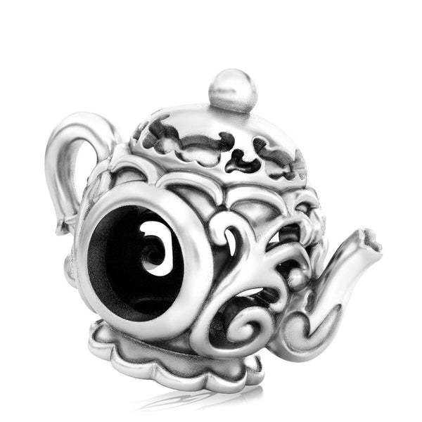 Tea Party Teapot Bead Charm - Fancy Scroll - Bella Fascini fits Pandora