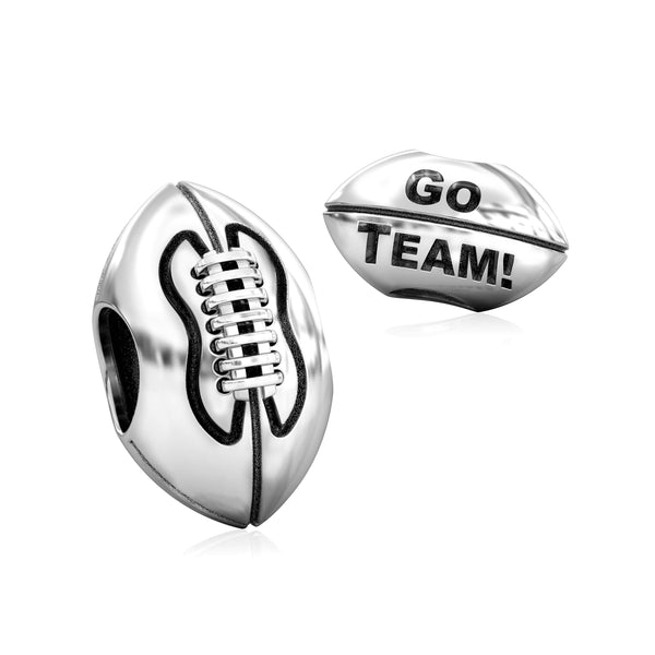 Football Go Team! Bead Charm - Bella Fascini fits Pandora