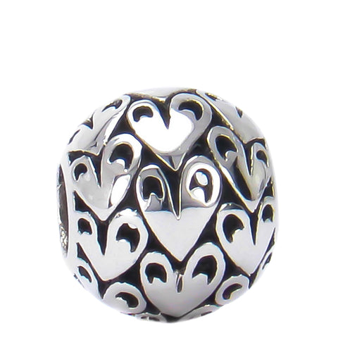 Lots of Love Hearts Bead Charm - Bella Fascini fits Pandora