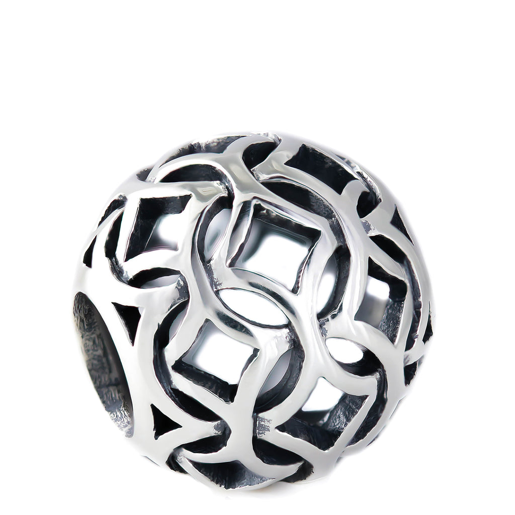 Diamond Pattern Weave Bead Charm - Bella Fascini fits Pandora