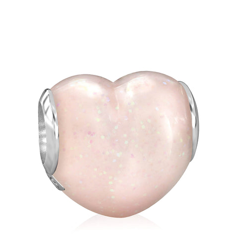 Big Heart Luxe Color™ Enamel Bead Charm - Fairy Dust - Bella Fascini fits Pandora