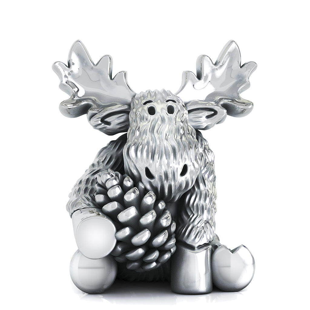 Fall Moose Bead Charm - Pine Cone