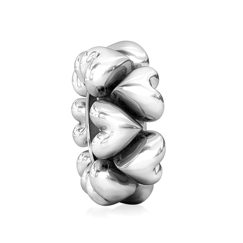 Bella Fascini fits Pandora style charm beads bracelets spacer silver separator