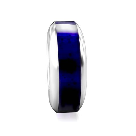 Spacer Luxe Color™ Enamel Bead Charm - Midnight Blue - Bella Fascini fits Pandora