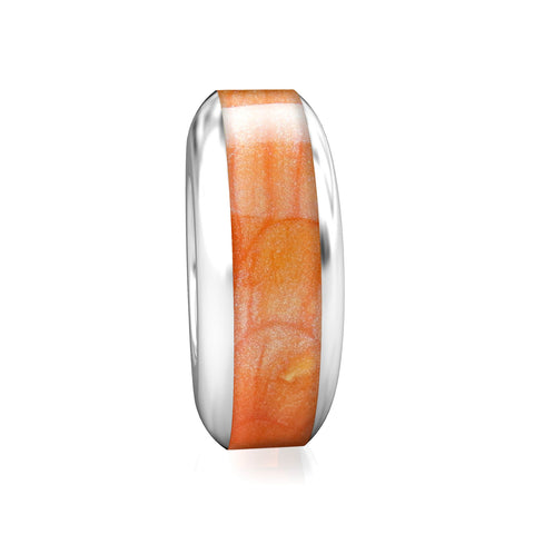 Spacer Luxe Color™ Enamel Bead Charm - Sunset - Bella Fascini fits Pandora