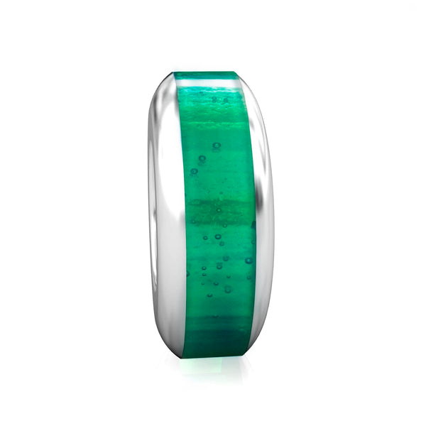 Spacer Luxe Color™ Enamel Bead Charm - Emerald Green - Bella Fascini fits Pandora