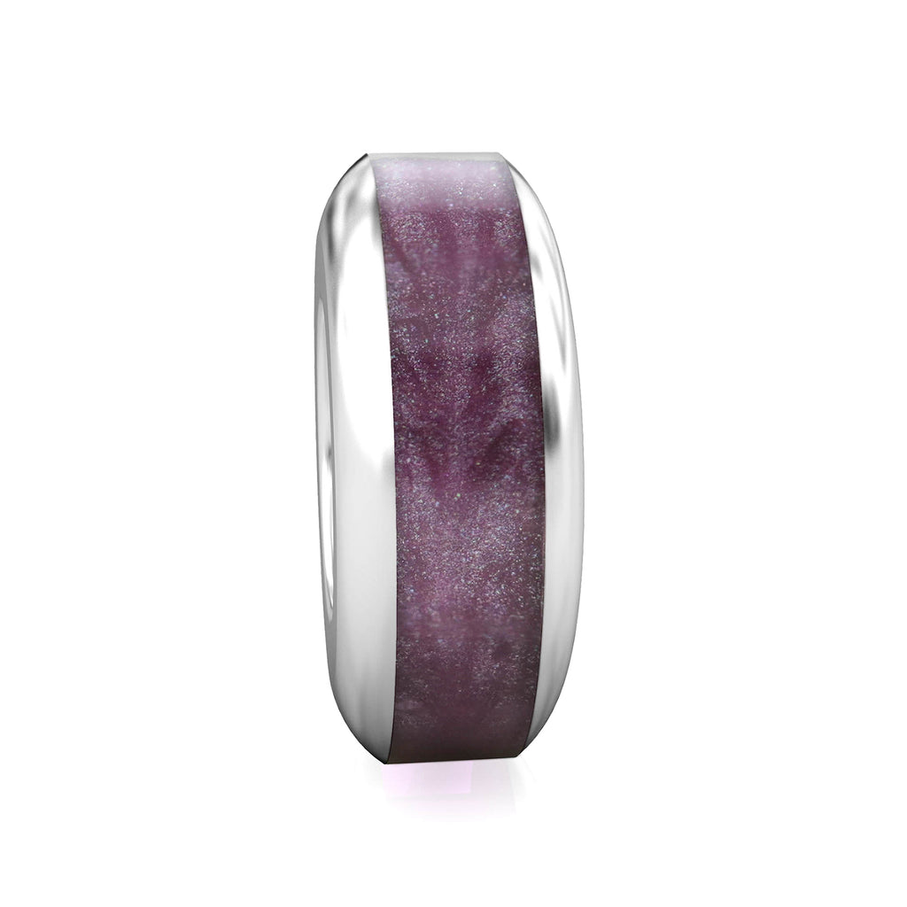 Spacer Luxe Color™ Enamel Bead Charm - Purple Cashmere - Bella Fascini fits Pandora