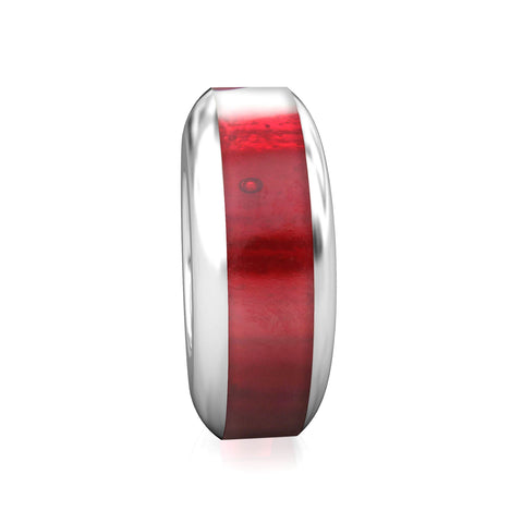 Spacer Luxe Color™ Enamel Bead Charm - Garnet - Bella Fascini fits Pandora