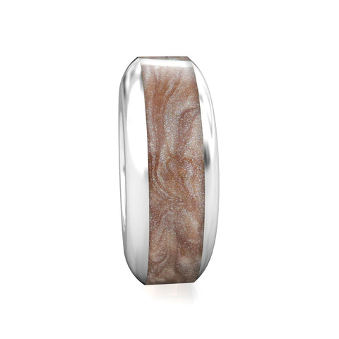 Spacer Luxe Color™ Enamel Bead Charm - Mink - Bella Fascini fits Pandora