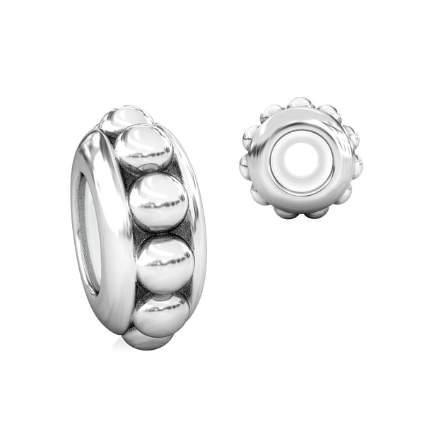 Stopper Bead Charm with Ultra Silicone Core - Bubble Dot - Bella Fascini fits Pandora