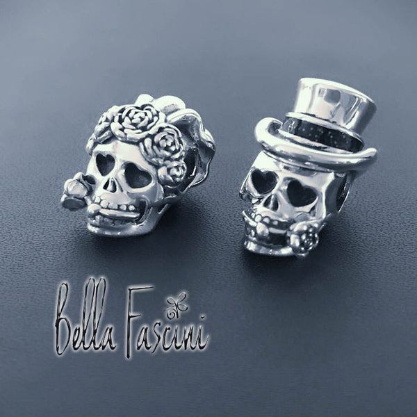 Bride - 'Till Death Do Us Part - Muertos Wedding Skull - Bella Fascini fits Pandora