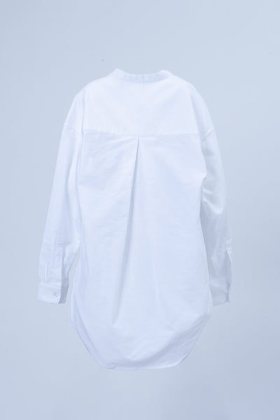 Womens L/S No Collar Shirt