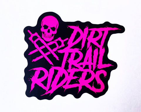 "DIRT TRAIL RIDERS HOT PINK 2.5"" X 2.5 """