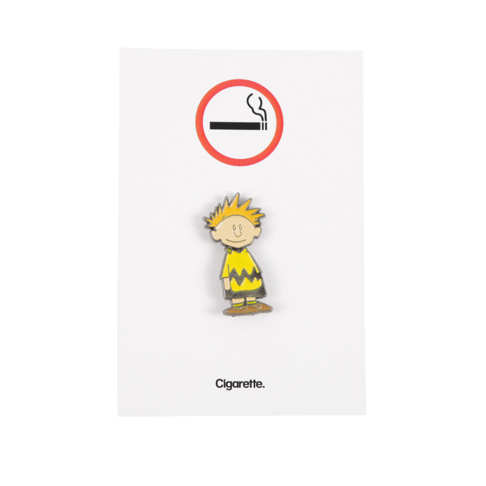 Cigarette Calvin Brown Enamel Pin