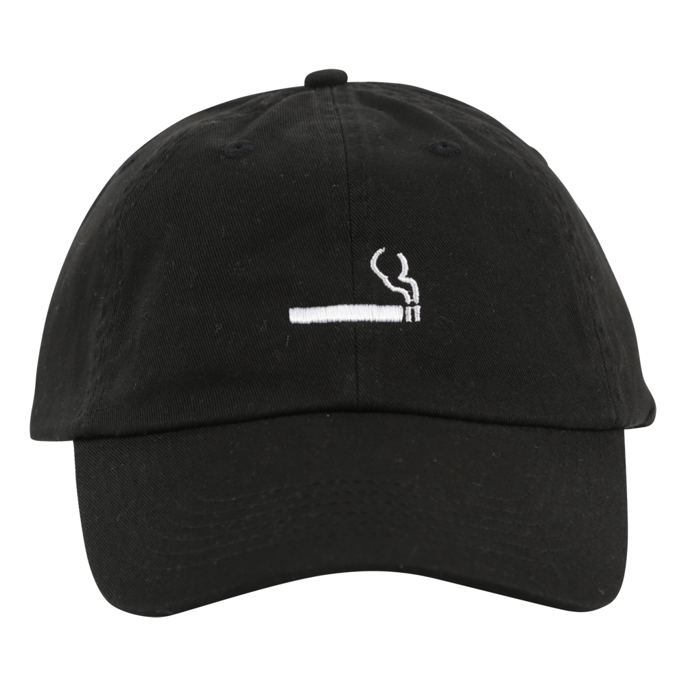Cigarette Logo Hat Black
