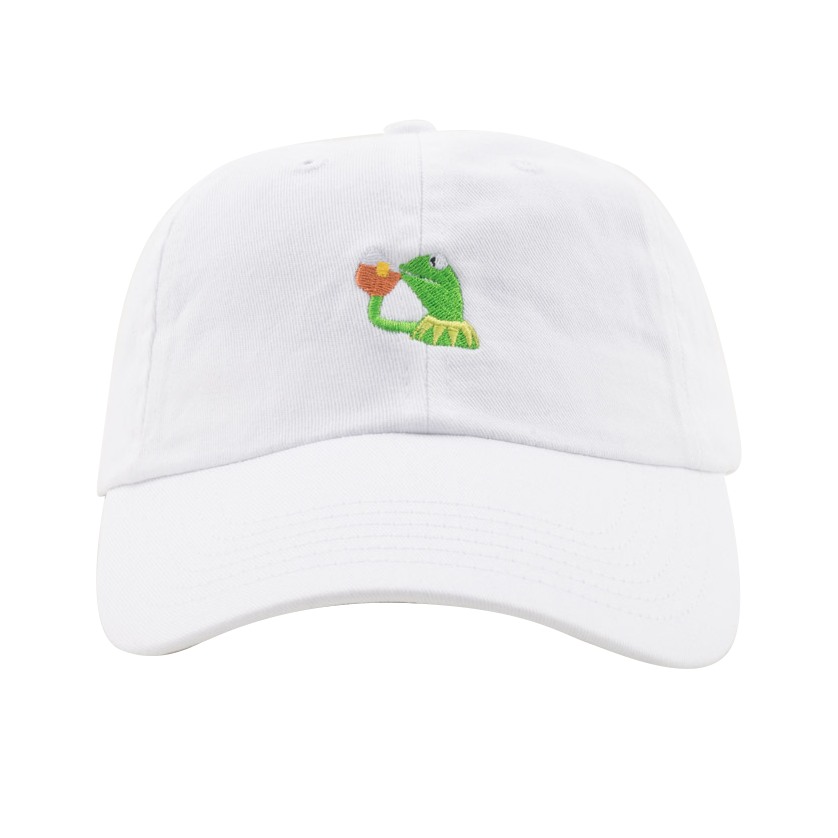 None Of My Business Hat White