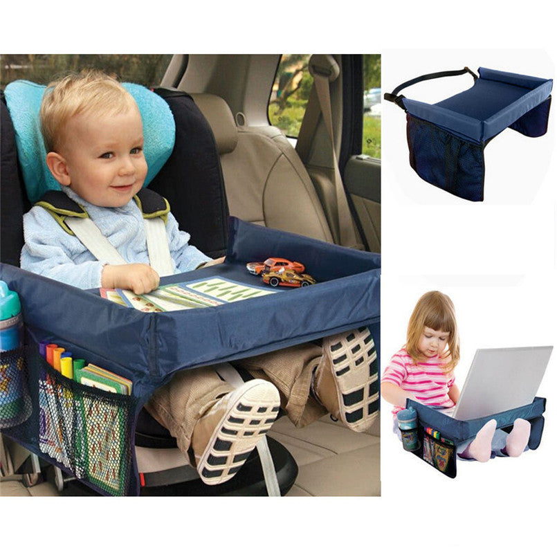 Foldable Safety Baby Child Car Seat Table Kids Play Travel Tray Automobiles Covers 2017