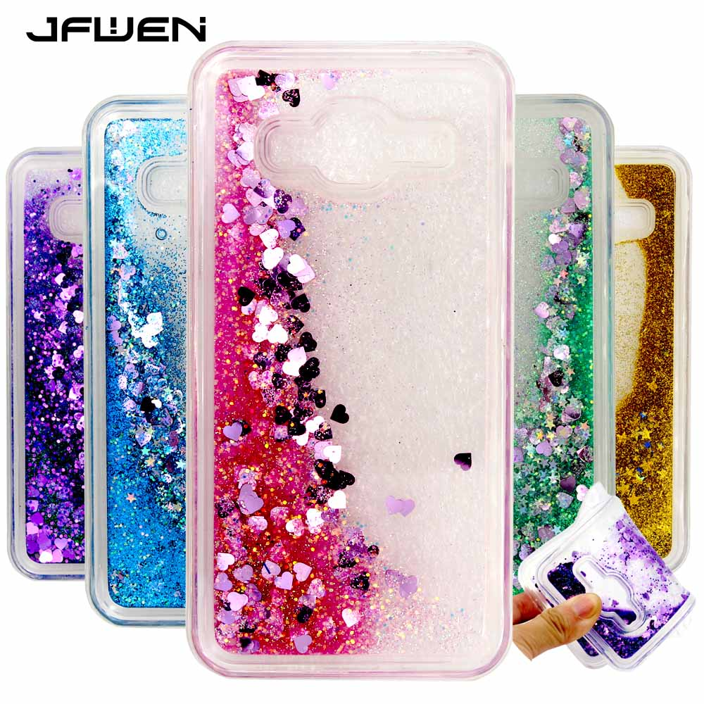 brand new c926f c64ae JFWEN For Samsung J3 2016 Case Silicone Soft TPU Clear Transparent Liquid  Phone Cases For Samsung Galaxy J3 2016 Case Cover Back