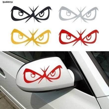 Decorative sticker for car fashion eyes design 3d qualishop
