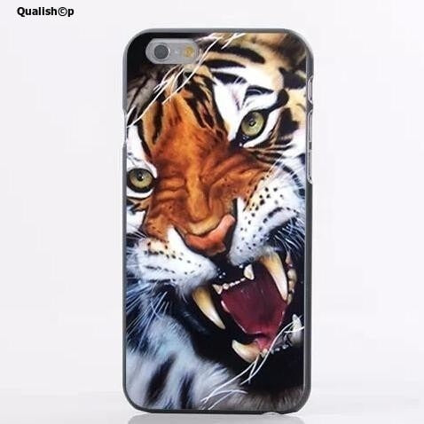 Qualishop Etui iphone tiger animal pattern hard phone case for iphone 5 5s  ... d5eeb627a